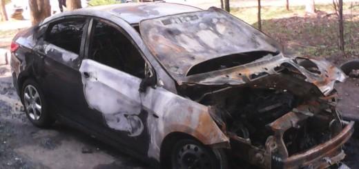 сгоревшие авто в Щелково