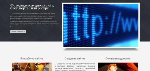 Создание сайтов Щелково Фрязино